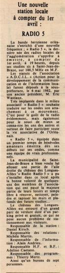 article de presse 19 mars 1983
