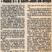 "article de presse""NR"" 7 avril 1983"