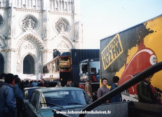 La manifestation de février 1985.Le début du défilé