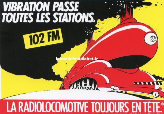 """publicité """"la radiolocomotive""""; en 1985"""