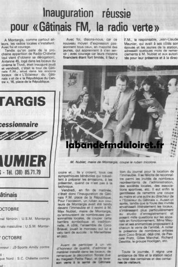 article de presse mi-octobre 1982