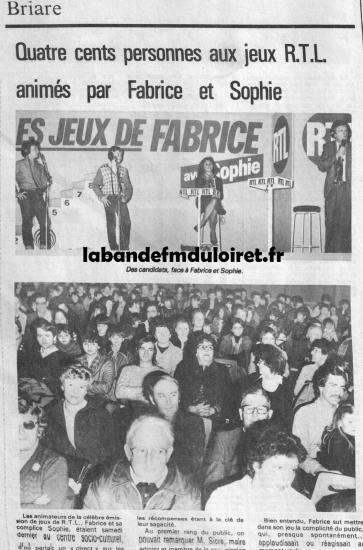 article de presse (extrait) nov.1981
