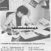 article de presse fin mars 1985