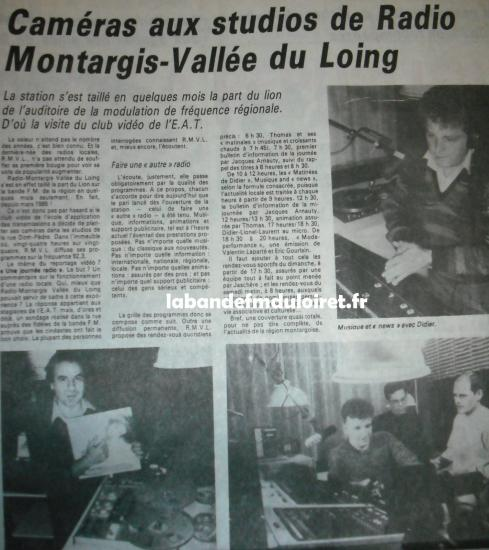 article de presse 21 nov. 1985