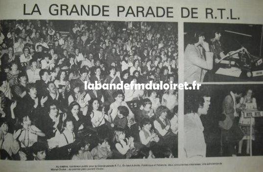 la grande parade a Orléans le 21 avril 1982, à la foire expo, avec Fabrice et Laurent Voulzy