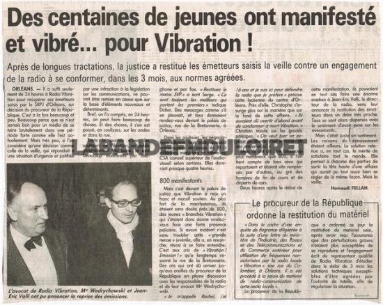 article de presse déc. 1993 contre saisie des émetteurs