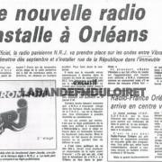 article de presse début septembre 1985 pour l'arrivée de NRJ