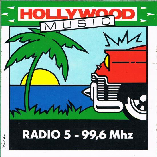 autocollant Radio 5/émission Hollywood music
