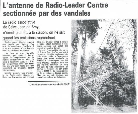 article de presse 18 avril 1989