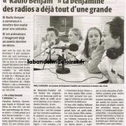 article 1 avril 2003. Radio Benjim'