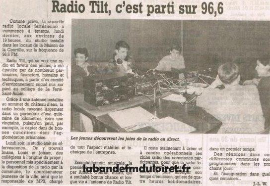 article 11 mars 1996. Radio Tilt étant alors en temporaire