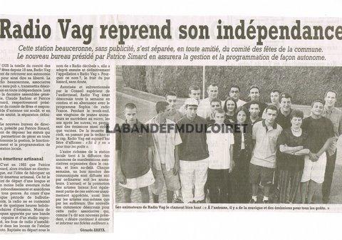 article de presse juillet 2001