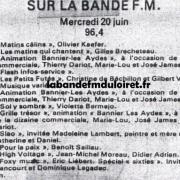 grille des programmes 20 juin 1984