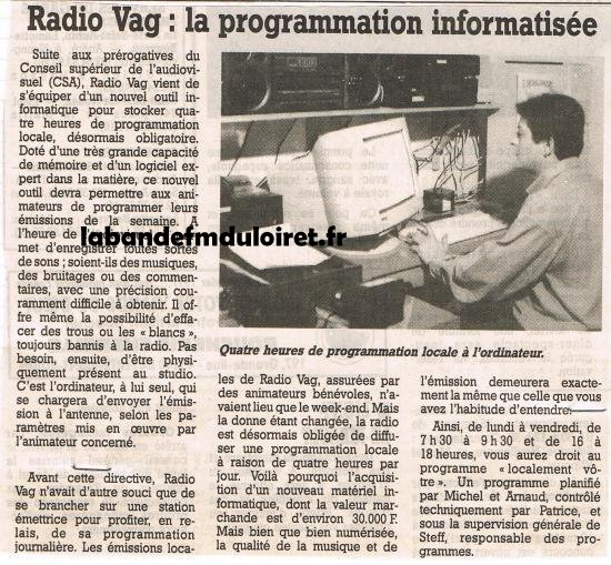article de presse janv. 1997