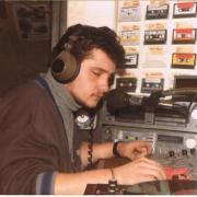 Dominique a l'antenne en 1986.