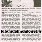 article de presse fin mars 1999