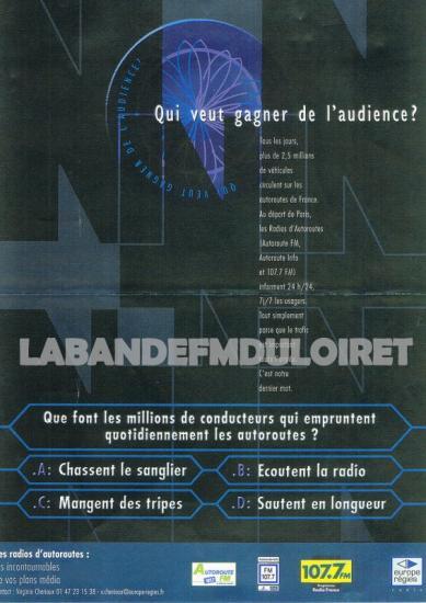 publicite en 2002 pour les radios d'autoroutes