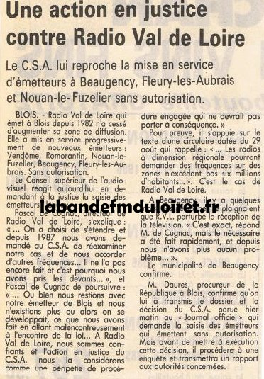 article de presse sept. 1989