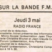 grille des programmes mai 1984