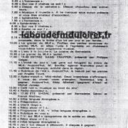 grille des programmes été 1984, en semaine