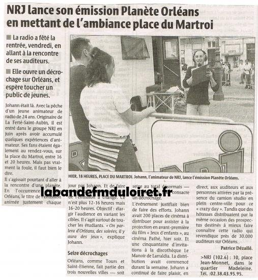 article de presse sept. 2003