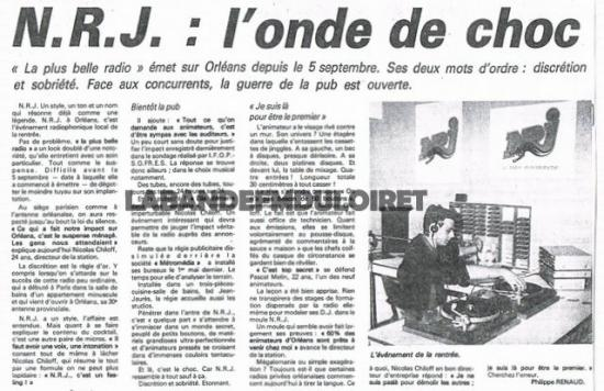 article de presse septembre 1985
