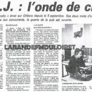 article de presse septembre 1985