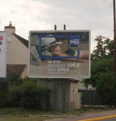 pub. france Bleu sur Montargis et Gien, été 2010
