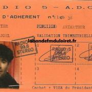carte d'adhérent 1988 (Joel Minier)