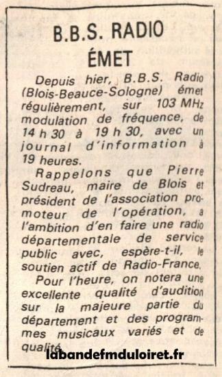 article de presse mars 1982