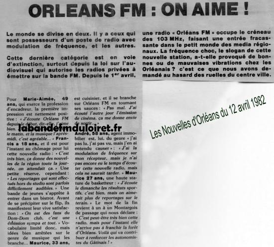 article de presse 12 avril 1982