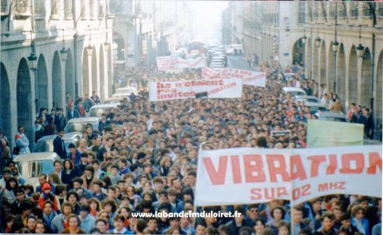 La manifestation de février 1985, rue Royale.