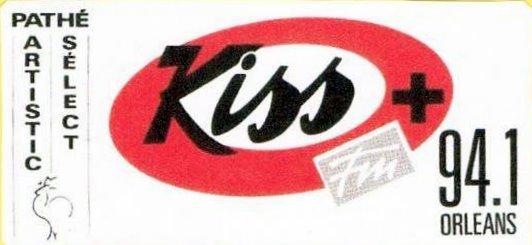 le 1er autocollant Kiss FM Orléans en 1987