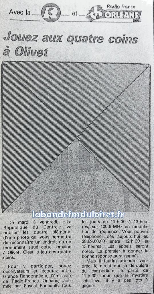 """jeu concours avec La République du Centre"""" en 1986"""