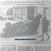 article de presse du 21 juin 1986 sur le déménagement de la station.