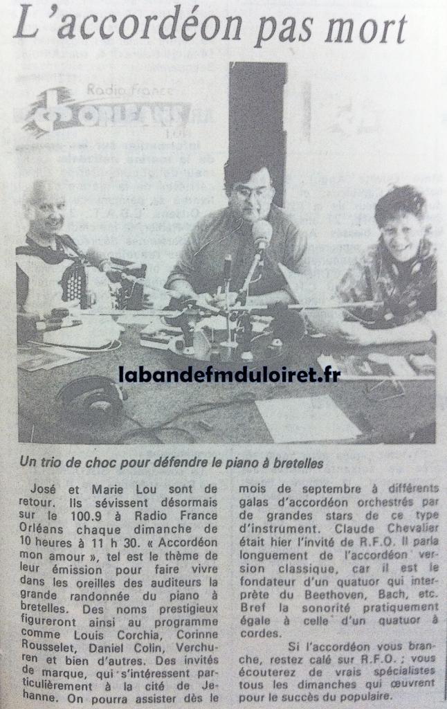 article de presse juillet 1986