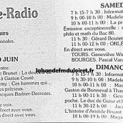 grille des programmes juin 1980 (vendrdi 20 au dimanche 22)