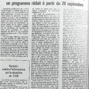 article de presse fin septembre 1981