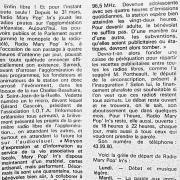 article de presse fin sept. 1981