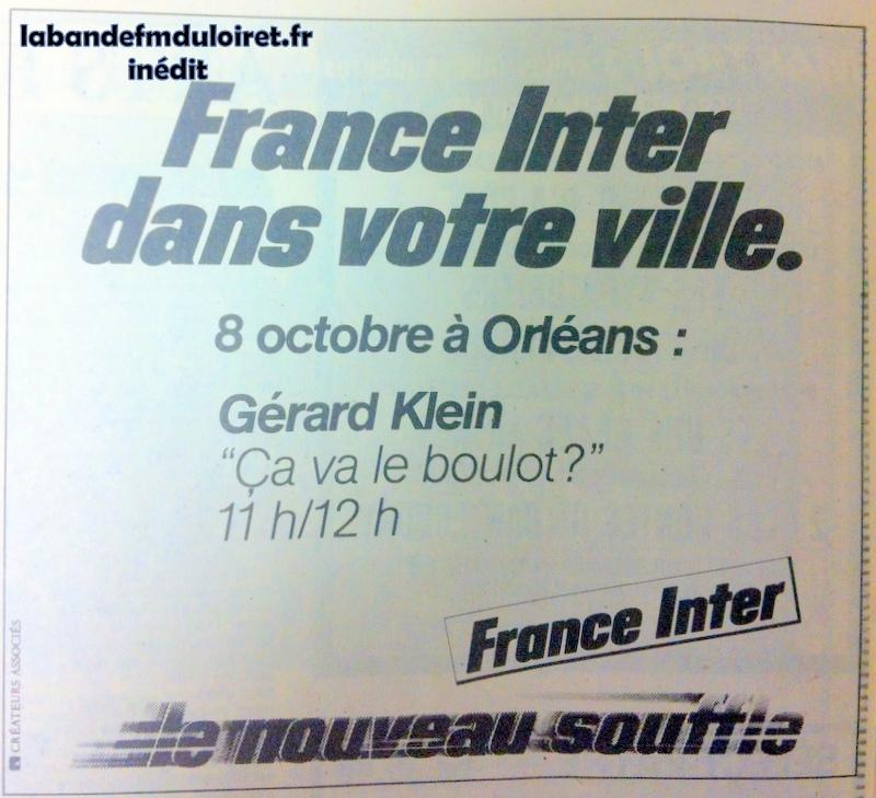 publicité en octobre 1981 pour la venue de la radio à Orléans