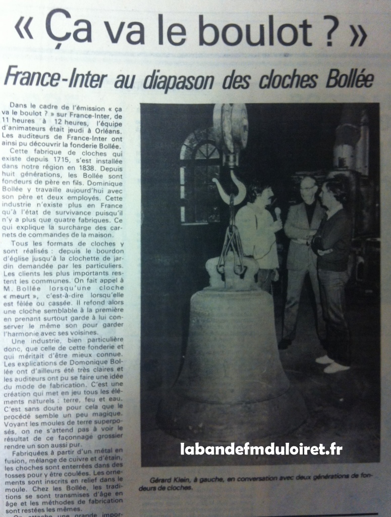 article de presse RC 9 octobre 1981