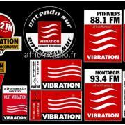 autocollants Vibration