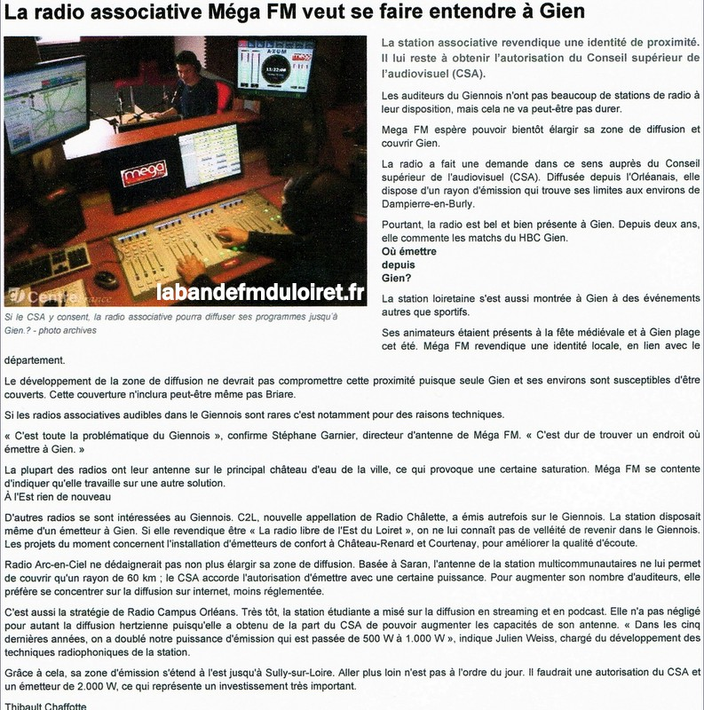 "article de presse ""République du Centre"", 26 nov. 2013"