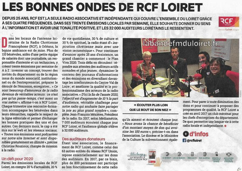 "article de presse ""La tribune"" janvier 2018"
