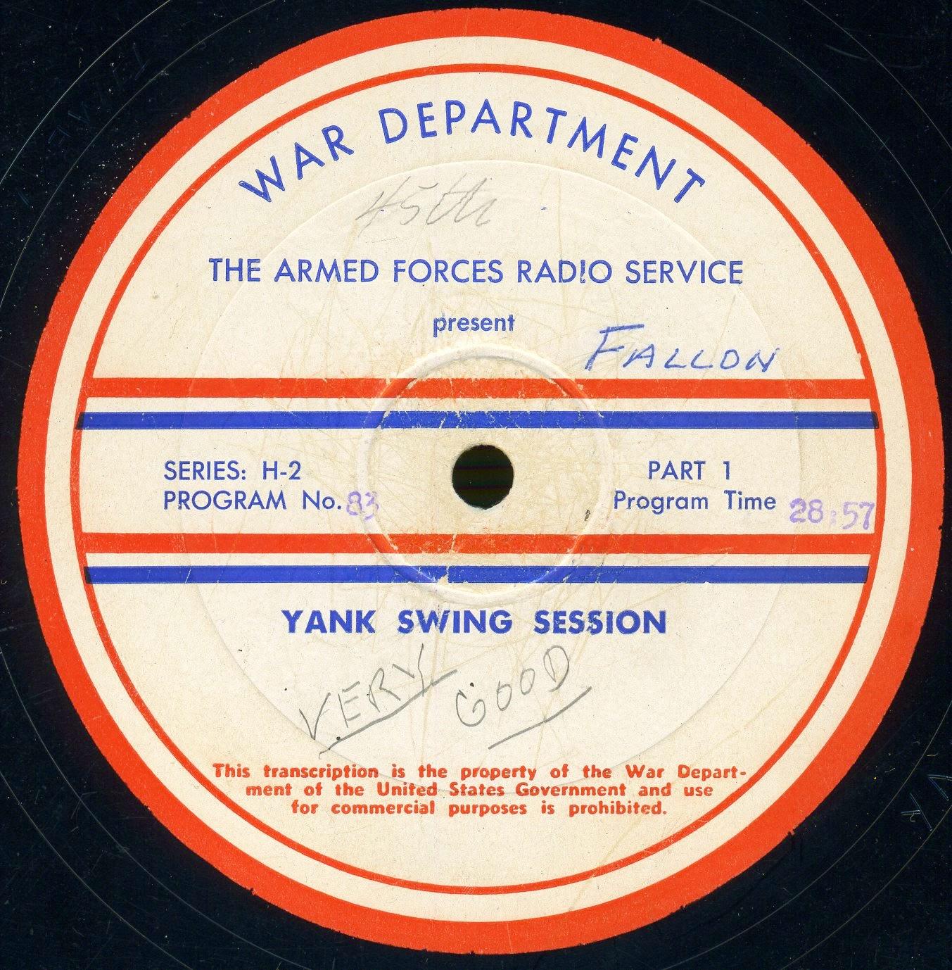 Disque de programmation (1944/46)